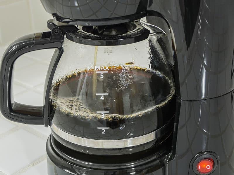 Coffee Maker Pot Filling Close